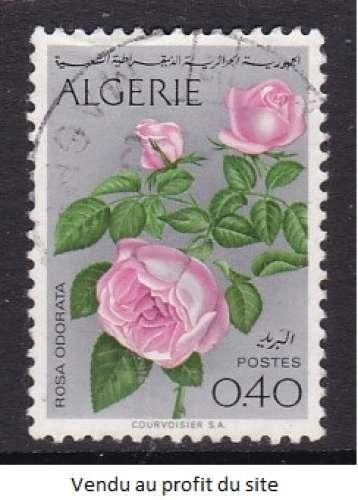 TIMBRE OBLITERE D'ALGERIE - FLEURS : ROSES N° Y&T 569