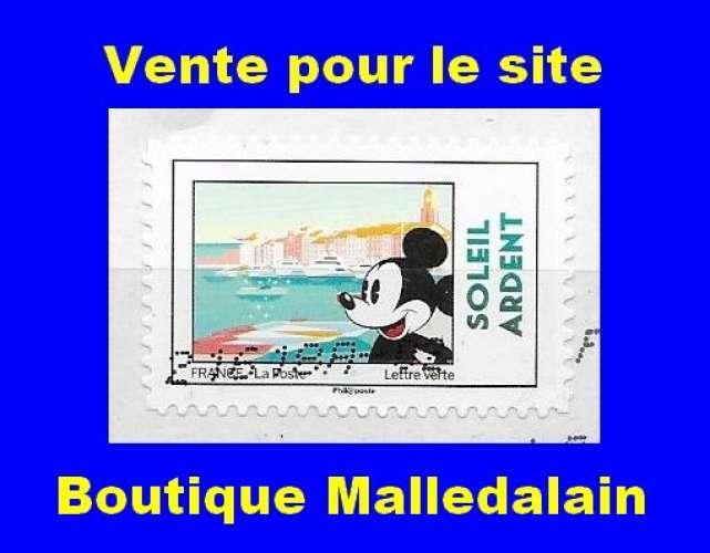 FRANCE - Oblitéré sur fragment - AA 1592 Mickey et la France Soleil ardent - TCA 129