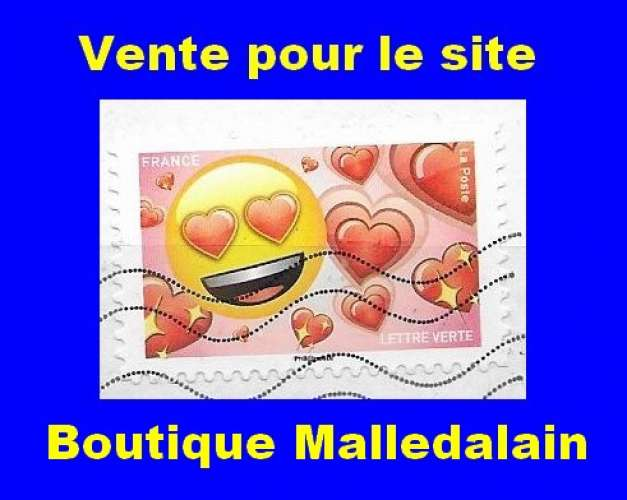 FRANCE - Oblitéré sur fragment - AA 1564 Les messagers de vos émotions Joie et cœurs - TCA 131