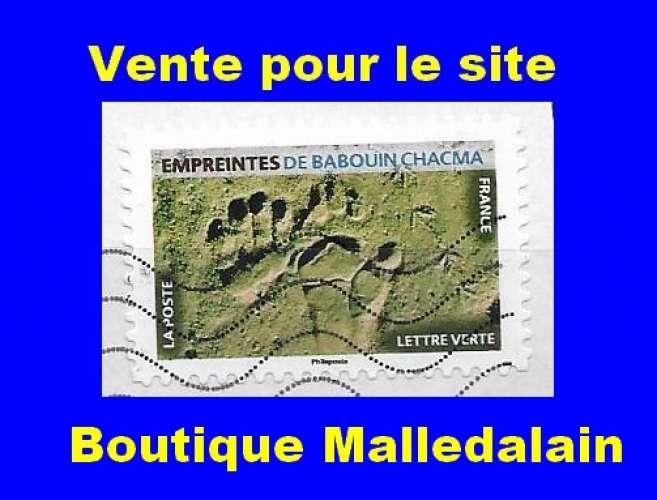 FRANCE - Oblitéré sur fragment - AA Empreintes d'animaux Empreintes de babouin chacma - TCA 132