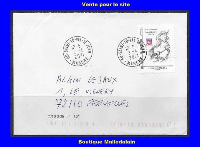 FRANCE - Enveloppe oblitéré - 50 ans Essor Philatélique SAINT-LO - TCA 139