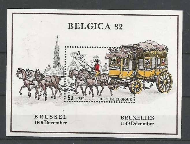 Belgique - 1983 - Diligences - Bloc n°  59 - Neuf **
