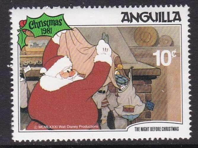 TIMBRE NEUF D'ANGUILLA - NOËL 1981 : DISTRIBUTION DES CADEAUX (WALT DISNEY) N° Y&T 421