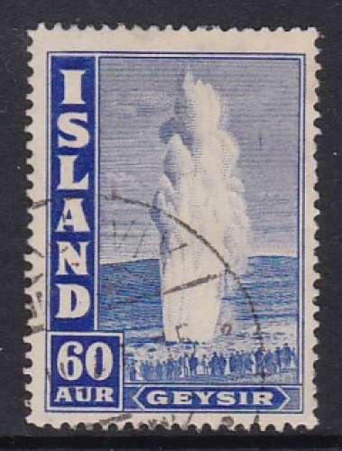 TIMBRE OBLITERE D'ISLANDE - GEYSER N° Y&T 197a