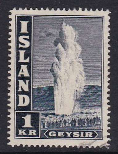 TIMBRE OBLITERE D'ISLANDE - GEYSER N° Y&T 198a