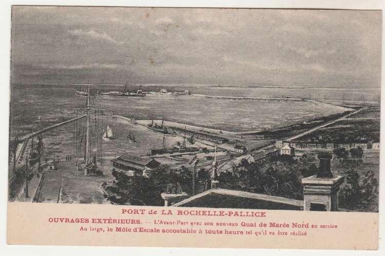cpa 17 Port de la Rochelle-Pallice Ouvrages extérieurs