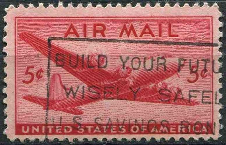 ETATS UNIS 1946 oblitéré Poste aérienne N° 33