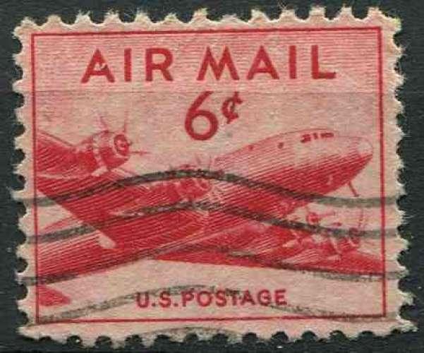 ETATS UNIS 1947 oblitéré Poste aérienne N° 35