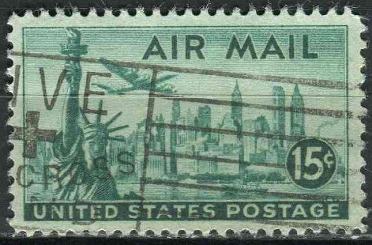 ETATS UNIS 1947 oblitéré Poste aérienne N° 37