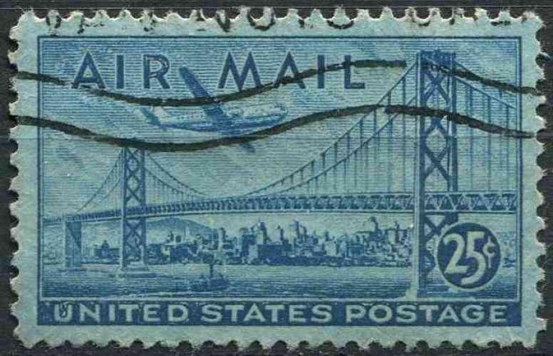 ETATS UNIS 1947 oblitéré Poste aérienne N° 38