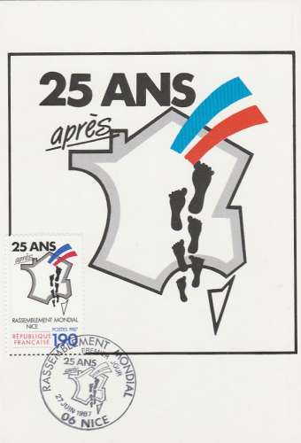 Carte maximum - France - YT N° 2481 - 1987 - Rassemblement mondial Nice