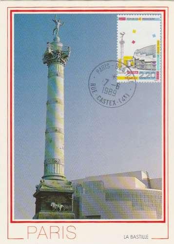 Carte maximum - France - YT N° 2583 - 1989 - Opéra Bastille - Paris