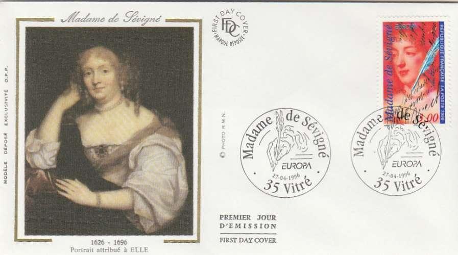 FDC - France - YT N° 3000A - Madame de Sévigné - Premier jour Vitré 1996