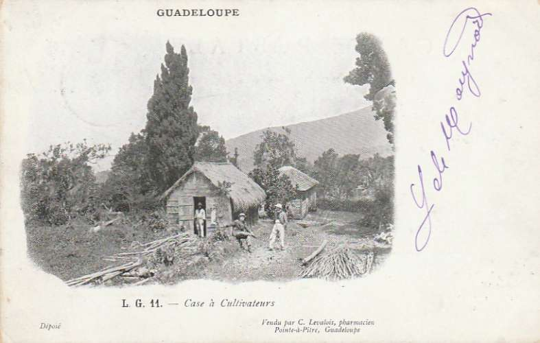 Guadeloupe - Carte postale vers Poissy