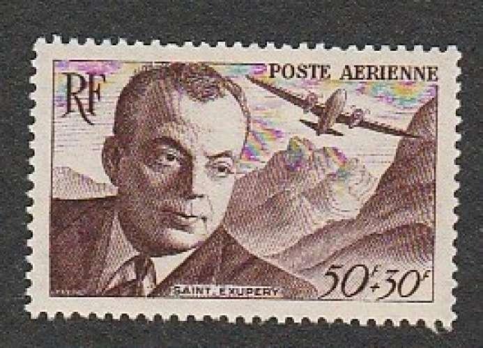 France - Poste Aérienne PA N° 21 MNH ** 1947 Antoine de St Exupéry