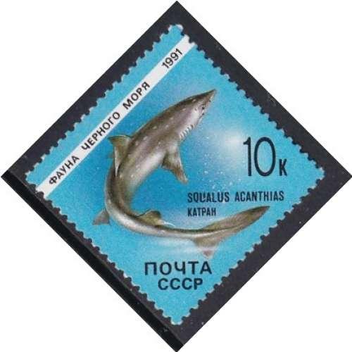 TIMBRE NEUF D'U.R.S.S. - FAUNE DE LA MER NOIRE : SQUALUS ACANTHIAS N° Y&T 5820