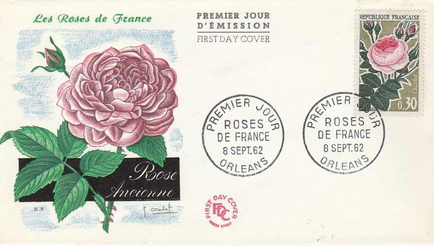 FDC - France - YT N° 1357  1962 - Roses de France - Premier jour Orléans