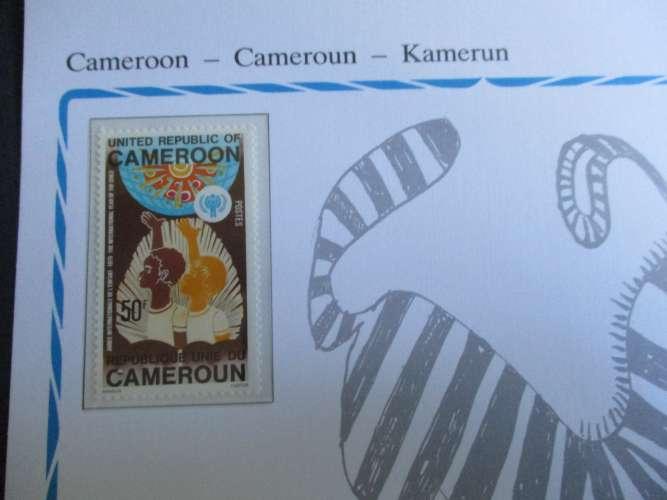 cameroun carte unicef * *1979