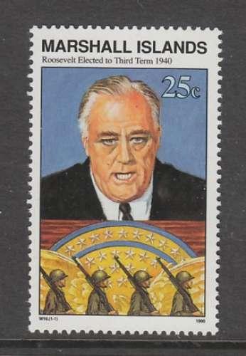 TIMBRE NEUF DES ILES MARSHALL - ELECTION DE F. ROOSEVELT POUR SON 3EME MANDAT, 1940 N° Y&T 323
