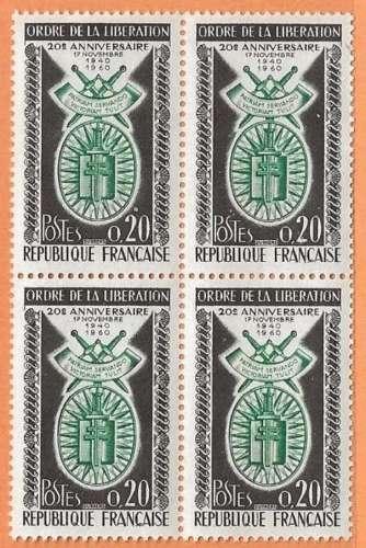 FRANCE LOT IMPORTANT DE 94 TP EN BLOC DE 4 ex SOIT 376 TIMBRES - NEUFS ** SUPERBES