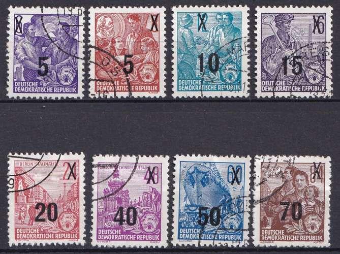 Allemagne 1954 Y&T 176 à 183 oblitéré