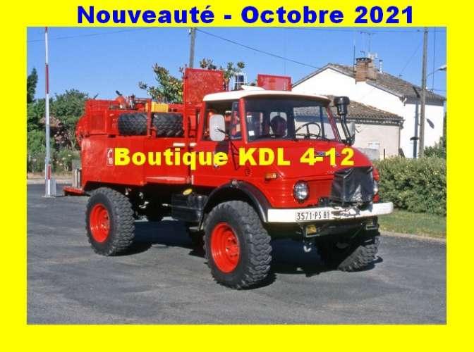 *AL SP 120 à 144 - Lot de 25 cartes postales - Véhicules des Sapeurs-Pompiers de France