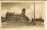 miniature 51 REIMS , GUERRE 14, L'AVENUE DE LAON ET LA FONTAINE DE LA REPUBLIQUE - CACHET  CONVOYEUR
