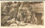 miniature SOLDATS ALLEMANDS AVEC LES MASQUES A GAZ, GUERRE 14 ,  DESSIN DE F.FLAMENG  AOUT 1917