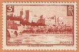 miniature France - Y&T 391 ** - Avignon - Palais des Papes et pont Benazet