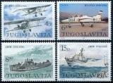 Yougoslavie - Y&T 1823 à 1826  ** - Avions - bateaux