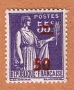 miniature France - Y&T 478 ** - Paix surchargé