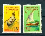 miniature Comores 33 34 1964 embarcations neufs avec trace de charnière * TB MH con charnela cote ** 10
