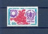miniature Comores 46 1/4 de cote 1968 OMS neufs ** TB MH con charnela cote 3