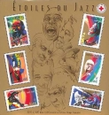 France - Y&T 50 ** - Bloc - feuillet - Etoiles du jazz - chanteurs - musiciens