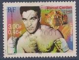 miniature FRANCE 2000 : yt 3312 Oblitéré/Used # Boxe - Marcel Cerdan