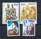 Monaco 1655 à 1658 Personnages célèbres (1988) neuf ** TB MNH cote 9.3