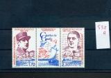 miniature Saint Pierre et Miquelon 532 A 1990   De Gaulle triptyque neuf ** TB MNH sin charnela