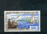 miniature Saint Pierre et Miquelon 579 1993 exode îles de la Madele neuf TB ** MNH sin charnela faciale 0.76