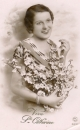 miniature Cpa carte fantaisie Sainte Catherine jeune femme