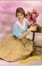 miniature Cpa carte fantaisie Sainte Catherine jolie jeune femme