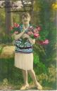 miniature Cpa carte fantaisie Bonne fête jolie jeune femme
