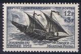 France - Y&T 1093 ** - Journée du Timbre 1957 - Felouque