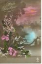 miniature CPA Patriotique , ww1 , muguet porte bonheur paysage printemps fleurs ! écrite