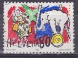 SUISSE 1408 - Le monde du cirque - Clowns et éléphant