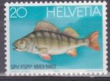 SUISSE 1174 - Centenaire de le Fédération suisse de pêche