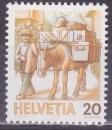 SUISSE 1264 - Transport à dos de mulet