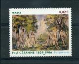 miniature France 3894 tableau de Cézanne Baigneuses neuf luxe ** MNH sin charnela prix de la poste 0.82