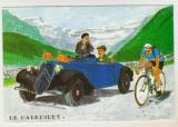 cpm ( 10,5x15 ) Le Cabriolet Citroën  ( cyclisme )