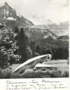 miniature Cp 74 Chamonix  -  Les pélerins  aiguille du midi vue du chalet A Jacques Balmat