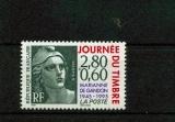 miniature France 2933 de feuille journée du timbre 1995 neuf luxe ** mnh sin charnela prix de la poste 0.5